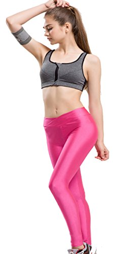 Astage Damen Sportbekleidung Strumpfhosen Leggings Fitness Running Lange Hosen Hotpink L