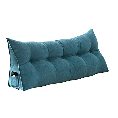 LJHA baozhen Bedside Cushion, Removable Headboard Back Support Triangular Wedge Cushion Sofa Bed Reading Pillow (Color : Style4, Size : 150x20x50)