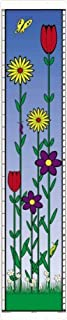 Bright Flowers design growth chart. Mark each precious memory up to 6' tall. Prime Eligible.