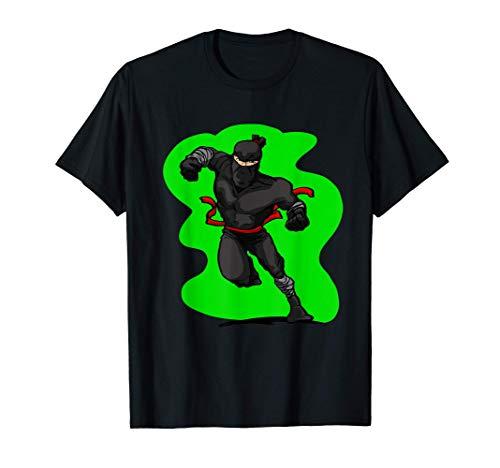 cooler schwarz grüner Ninja Geschenk für Ninja & Ninjas T-Shirt