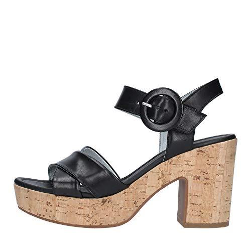 Sandalo da Donna NeroGiardini in Pelle Nero E012420D. Scarpa dal Design Raffinato. Collezione Primavera Estate 2020. EU 39