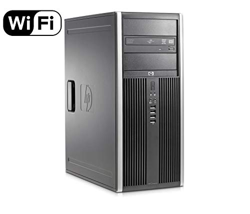 HP Elite 8300 Tower Flagship Business Desktop Computer (Intel Quad-Core i7-3770 up to 3.9GHz, 8GB RAM, 2TB HDD+ 240GB SSD, DVD, WiFi, VGA, DisplayPort, Windows 10 Professional) (Renewed)