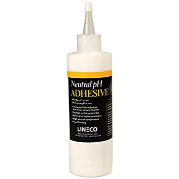 Lineco Neutral pH Adhesive Acid-Free PVA Formula Water Soluble Dries Clear and Quick Flexible When Dried 8 Ounces Ideal For Book Binding and Other Paper Projects White