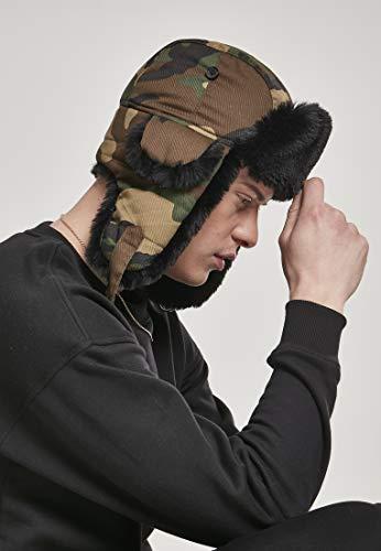 Urban Classics Unisex Mütze Printed Trapper Hat Fell-Mütze in Camouflage-Optik