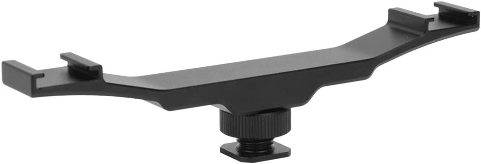 Double End Cold Shoe Omaha Mall Mount Bracket Award-winning store Rod Flas Extension for Camera