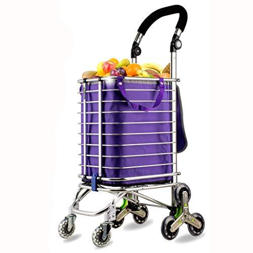 pique-nique pour faire du shopping rangement /à la maison etc. Sac de chariot de magasinage pliant chariot de chariot pliable bandes bleues chariot descalade descalier /à 3 roues