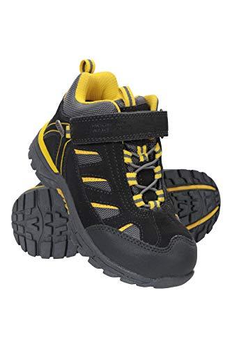 Mountain Warehouse Dirft Cargadores Menores de los Cabritos de la Deriva - Botas de Lluvia Impermeables, Zapatos para Caminar duraderos, Botas de Senderismo para niños Gris Oscuro 29
