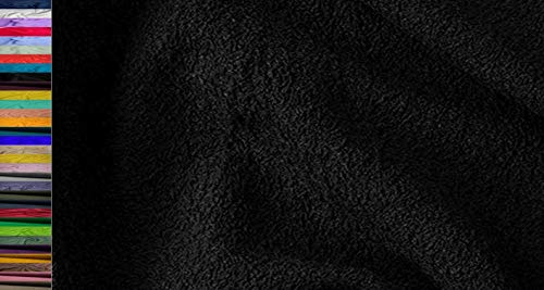 StoffBook WALKFROTTEE Stoff Doubleface SCHWER FROTTE Stoff Stoffe METERWARE, B760 (Schwarz)