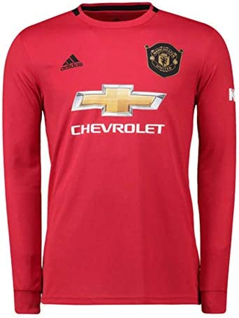 Manchester United 2019 2020 Youth Home Long Sleeve Jersey YS Red Black product image