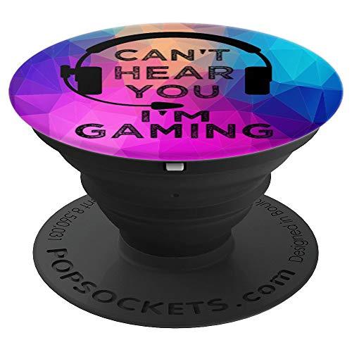 Lustig Gamer Videospiele Can't Hear Gaming Geschenk Jungen - PopSockets Ausziehbarer Sockel und Griff für Smartphones und Tablets
