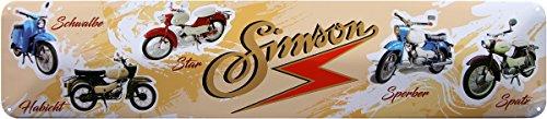 SIMSON moineau Sperber Star Schwalbe Moped 46 x 10 Plaque de strass Panneau str200