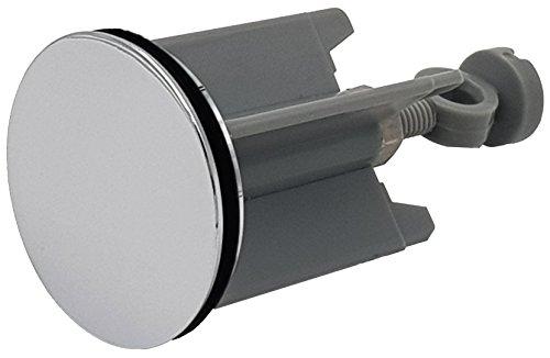 2 Stück Waschbeckenstöpsel Abfluss-Stöpsel mit Edelstahl Haarfänger-Kette - für handelsüblichen Abfluss, Silber 40mm, Hochwertige Qualität