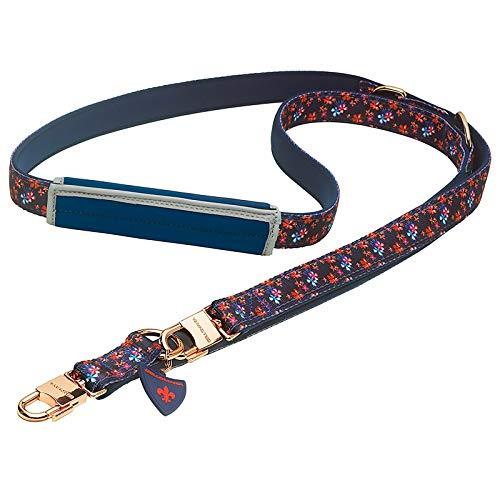 Bellomania Hunde-Leine Nylon | Neopren 2 m x 1,5 cm oder 2,4 cm Führleine 3-Fach verstellbar Sicherheits-Karabiner für große und kleine Hunde Lani