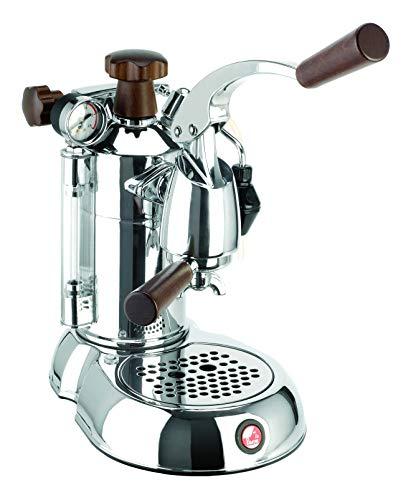 La Pavoni PSW-16 Stradavari 16-Cup Espresso Machine, Chrome with Wood Handles,Silver