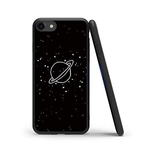 Yoedge Cover iPhone 7, Antiurto Custodia Nero Silicone TPU con Disegni Pattern Ultra Slim Protective Bumper Case per Apple iPhone 7 / iPhone 8 / iPhone 9 / iPhone SE 2020 Smartphone, Plante