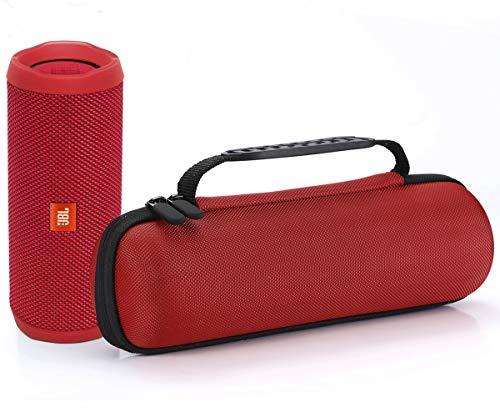 Harte Reise Lagerung Tragetasche für JBL Flip 4 / JBL Flip 3 Wireless Bluetooth Portable Lautsprecher. Passend für USB-Kabel und Wand-Ladegerät-Rose Red