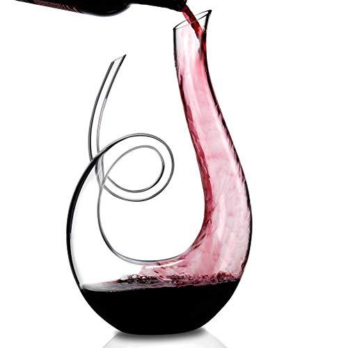LHLJ Decer rápido de Vino Tinto en Forma de Caracol con una Base Ancha para una aireación vívida, Accesorios de Vino de Jarra de Cristal Eleg, 650 ml