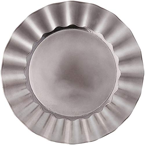 "SARO LIFESTYLE Collection Metallic Ruffle Design Round Charger Plate, 13"", Pewter"
