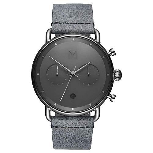 MVMT Herren Analog Quarz Uhr mit Leder-Kalbsleder Armband D-BT01-SGR