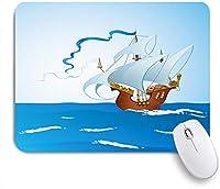 ECOMAOMI 可愛いマウスパッド カラベラは晴れた日に出航します 滑り止めゴムバッキングマウスパッドノートブックコンピュータマウスマット