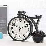 Reloj De Mesa De Bicicleta De Moda Decoración del Hogar Sala De Estar Reloj De Escritorio De Oficina Reloj De Dormitorio De Cuarzo Silencioso De Plástico Vintage (Color: Blanco)