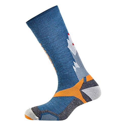 Salewa All Mountain VP SK Socken, Blue/Orange, 38-40