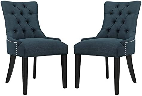 Modway Regent Modern Elegant Button Tufted Upholstered Fabric With Nailhead Trim Set of 2 Azure product image