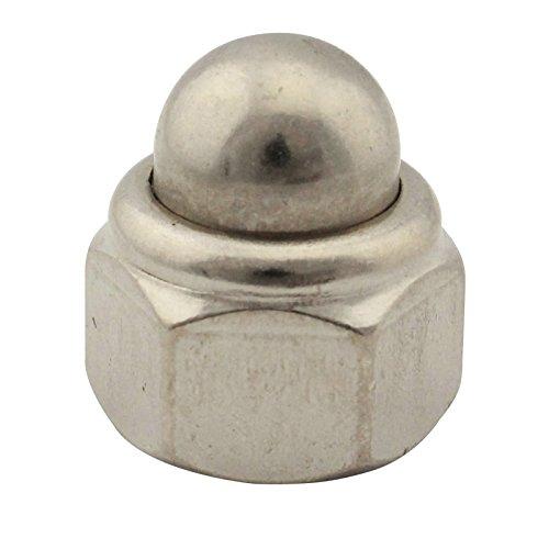 Hutmuttern (selbstsichernd) - M6 - (10 Stück) - DIN 986 - Sechskant-Hutmutter mit Klemmteil - Edelstahl A2 (V2A) - SC986 | SC-Normteile