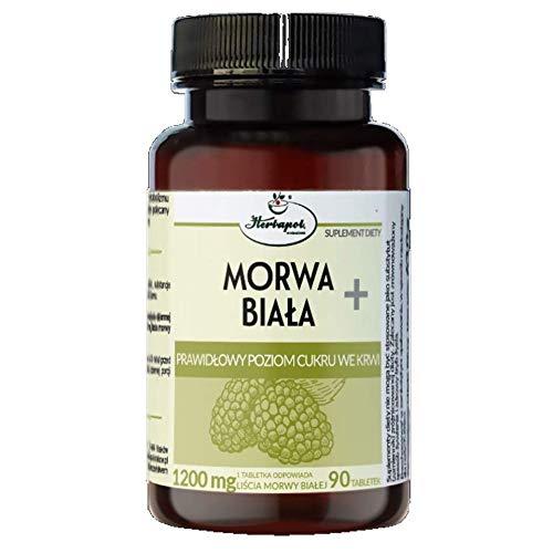 HERBAPOL Weiße Maulbeere + korrekter Blutzuckerspiegel - 90 Tabletten