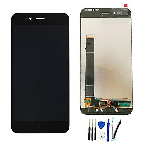 SOMEFUN Display di Ricambio per Xiaomi MiA1 / Mi A1 LCD Schermo Touch Screen Digitizer Assemblea per Xiaomi Mi5X / Mi 5X 5.5 (Nero Senza Cornice)