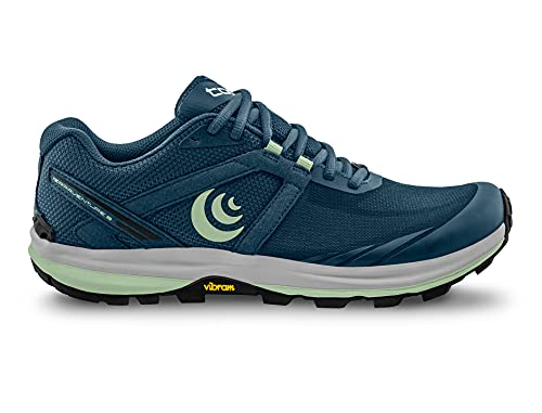 Topo Athletic Women's Terraventure 3 Comfortable Cushioned Durable 3MM Drop Trail Running Shoes, Athletic Shoes for Trail Running, Denim/Mint, Size 6