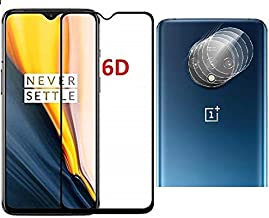 ValueActive Screen Protector For OnePlus 7T Tempered Glass 6D Full Glue Cover Edge-Edge Anti-Scratch Tempered Glass for OnePlus 7T with easy installation kit And Camera Glass Back Lens Protector
