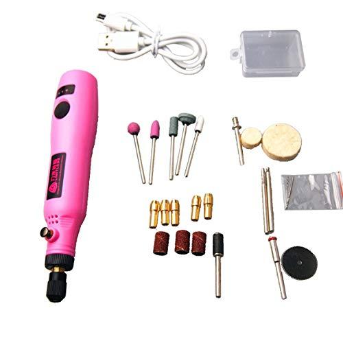 Rouku 3,6 V USB-Aufladung Elektrisches Schleifen Kleine Maschine Nagelschleifmaschine Lithium-Batterie-Bohrer Gravurstift