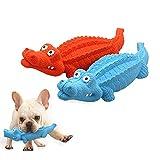 NotyBeybie Juguete para masticar perro chillón de cocodrilo duradero resistente, alivia el aburrimiento, juguete de entrenamiento para masticadores agresivos para perros pequeños/medianos/grandes