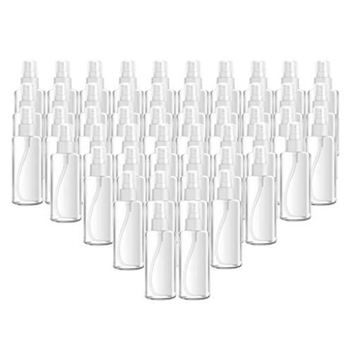 VANKOA 50pcs Bouteille de Pulvérisation Vide en Plastique Vaporisateurs Transparent Contenant pour Cosmétiques Liquides - 100ml 50pc