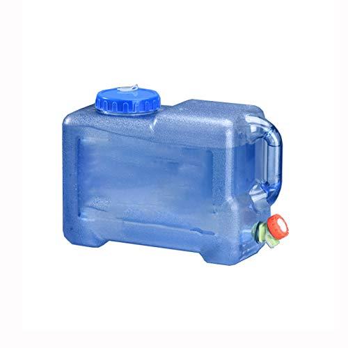 adad Campinggeschirr-Wasserkanister Tragbarer Wasserspeichereimer mit Schalter Haushaltsspeichereimer mit Deckel 5L12L18L22L (Color : Blue, Size : 12litres)
