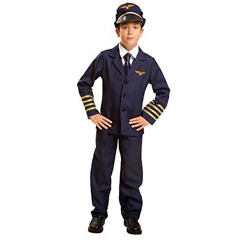 My Other Me Me-200907 azafatas Disfraz de piloto para niño, 10-12 años (Viving Costumes 200907)