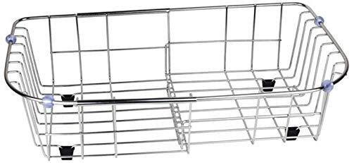 FEE-ZC Bequemer praktischer Geschirrtrockner, Spülbecken-Abtropffläche-Edelstahl-Küchenarbeitsplatte-rostfreier Schüssel-Platten-Speicher-Halter
