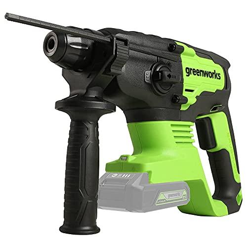 Greenworks Professional 2J Bohrhammer 24V Akku-Schlagbohrmaschine mit SDS-Plus, Sicherheitskupplung 4 Funktionen mit Vario-Lock und Rotationsstopp, 4550IPM und 1000RPM