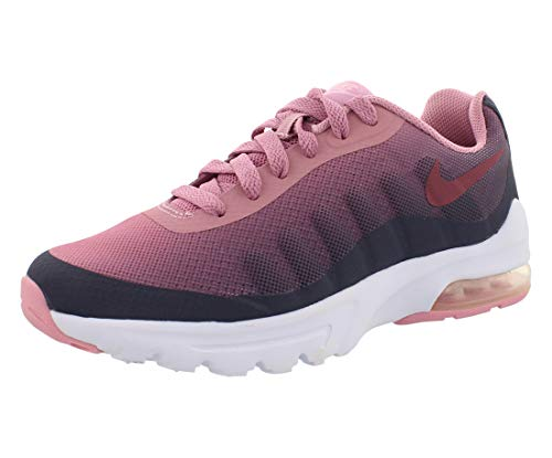 Nike Air MAX Invigor Print (GS), Zapatillas de Running Mujer, Multicolor (Gridiron/Vintage Wine/Pink 002), 38 EU