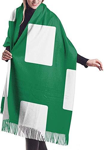 Bufanda de mantón Mujer Chales para, Bandera de Nigeria, blanco, verde, para mujer, bufanda, gran,...
