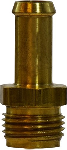"""Midland 38-836 Brass Hose Barb, Inverted Flare Male Connector, 3/8"""" Hose ID x 3/8"""" Inverted Flare"""