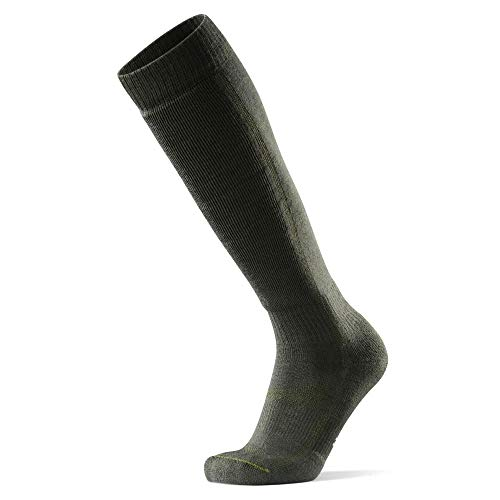 Calcetines Térmicos de Esquí de Lana Merino 1 Par (Verde Oliva, EU 39-42)