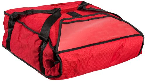 Polar Tech 811 RED Nylon Fabric Standard Thermo Insulated Pizza Carrier, 19' Length x 17-1/8' Width x 7-1/2' Depth, Red