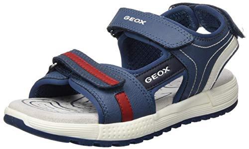 Geox J Alben Boy C, Sandali Punta Aperta Bambino, Blu (Avio/Red C4327), 30 EU