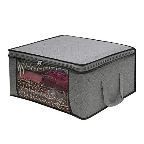 LJZX Aufbewahrungskiste Neue Faltbare Aufbewahrungsbox Tragbare Kleidung Sammelkoffer Nichtgewebtem Anti-Dirty-Stoff mit Reißverschluss Aufbewahrungsbox für Quilt-Kleidung Die täglichen Erfordernisse