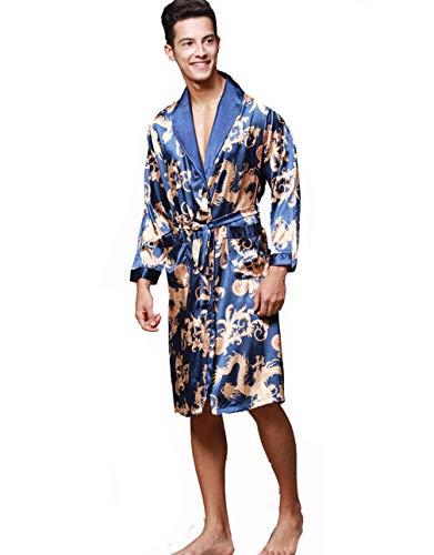 Pijama Hombre Abierto Bata Albornoz de para Dormir Baño