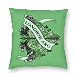 Novelty Longbow ARO Square Throw Pillow Cover Crazy Custom Cushion Cover Pillowcase with Zipper Pillowslip for Sofa Couch Home Decorative