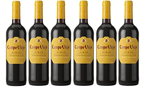 Campo Viejo Rioja Tempranillo, Spanish Soft, Velvety and Smooth Red Wine, 75 cl, Case of 6