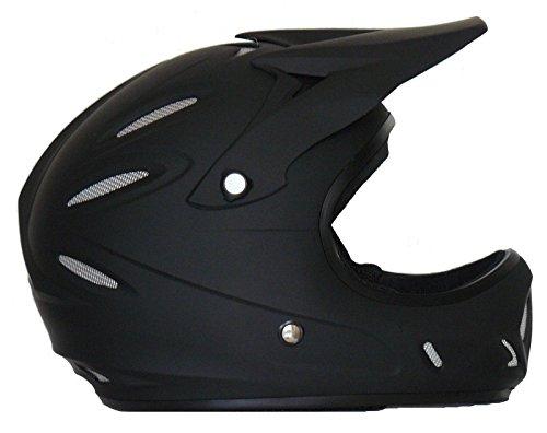 Protectwear Downhill casco Freeride casco BMX casco nero opaco FH-40, taglia 2XS (gioventù L)